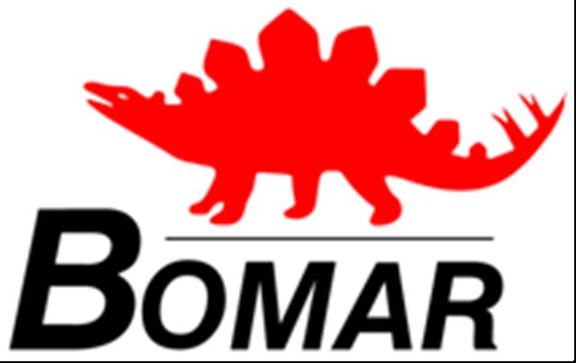 Bomar-Logo in Sägen