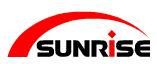Sunrise-logo in Pressen / Kanten / Schwenkbiegen